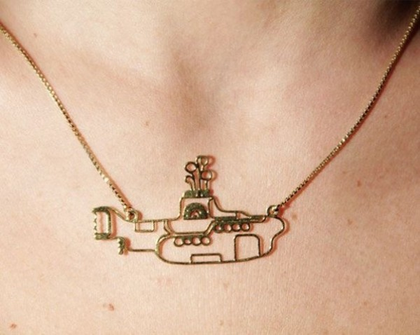 jewels yellow submarine necklace gold the beatles submarine necklace submarine gold necklace tumblr girl fashion