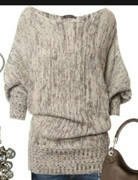 sweater pullover loose beige winter sweater