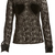 Buy this Black Lace with Velvet Shirt by Vivetta online at Fifi Wilson.