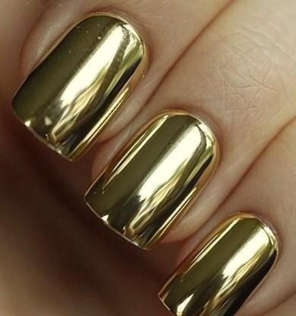 nail polish gold nails nail armour metallic mirror mirror effect metallic nails metalic gold chrome chrome nail polish chrome nail varnish nail varnish nail accessories fashion beautiful style 2015 2014 2015 fashion trends manicure gold manicure mani pedi nail wraps nail accessories nail art nail stickers