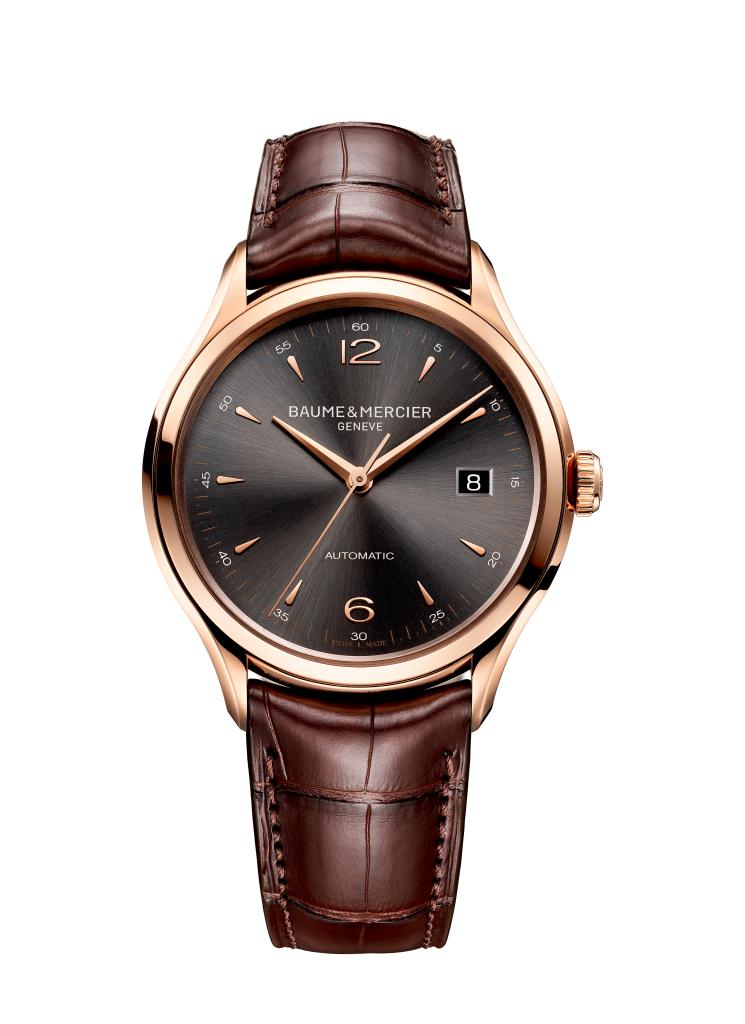 Clifton 10059 montre homme automatique en or rouge - Baume et Mercier