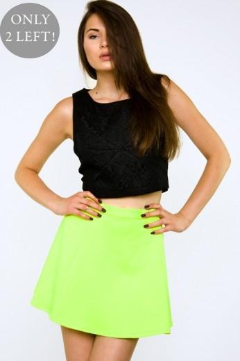 Neon Yellow Skirt- $44