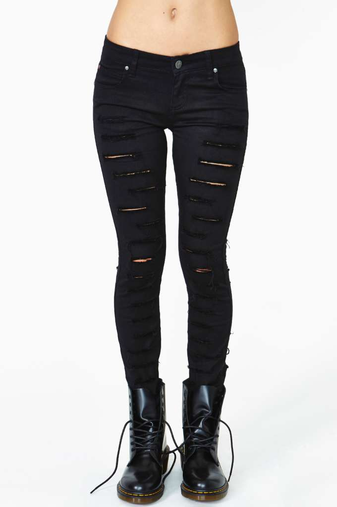 Tripp NYC Corrupted Skinny Jeans | Shop Bottoms at Nasty Gal