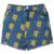 ROMWE | ROMWE Simpson Print Acid-washed Blue Denim Shorts, The Latest Street Fashion