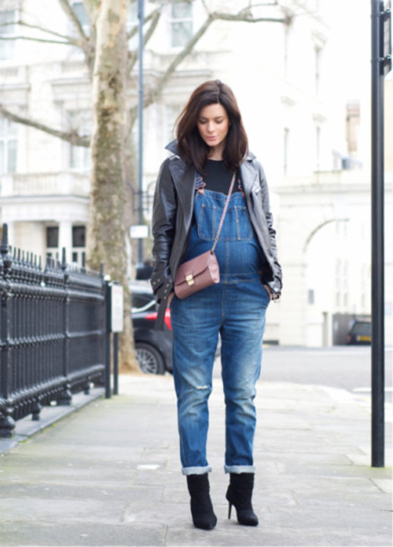 jacket maternity denim overalls winter outfits