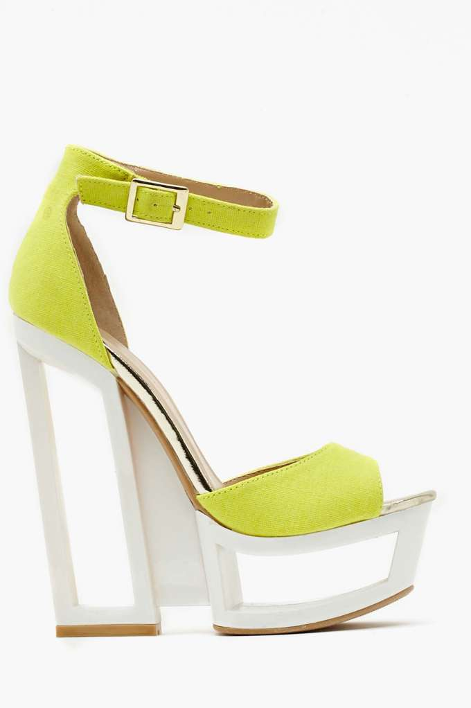 Tulum Platform Wedge  in  Shoes at Nasty Gal