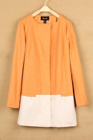 Color Contrast Coat [FEBK0171]- US$39.99 - PersunMall.com