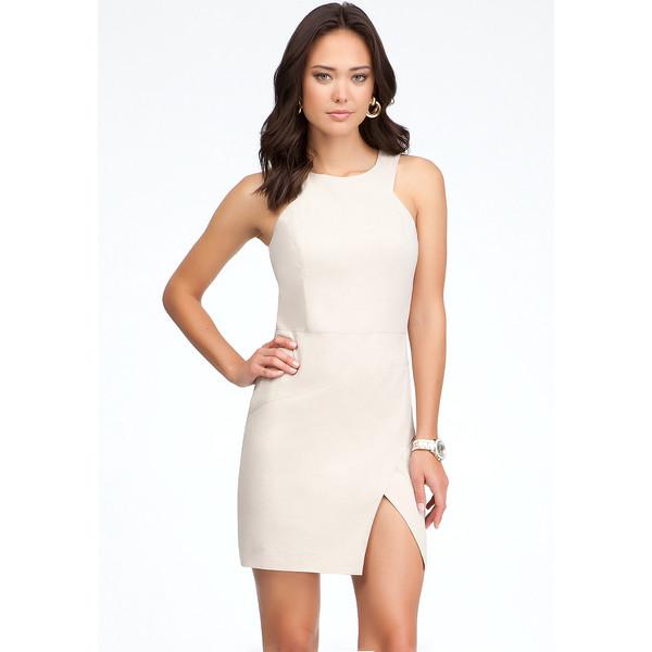 Bebe Lucy Geometric Linen Dress - Polyvore