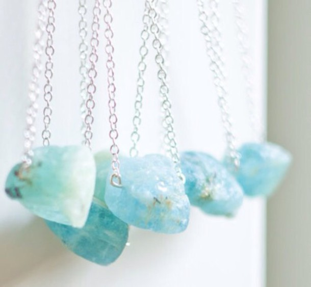 jewels necklace crystal raw stone
