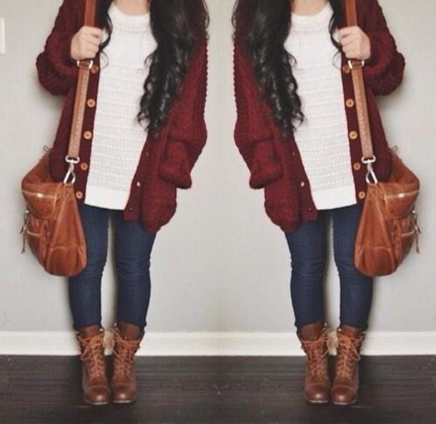 Well-liked bag, brown bag, shoulder bag, cute bag, cardigan - Wheretoget UV34