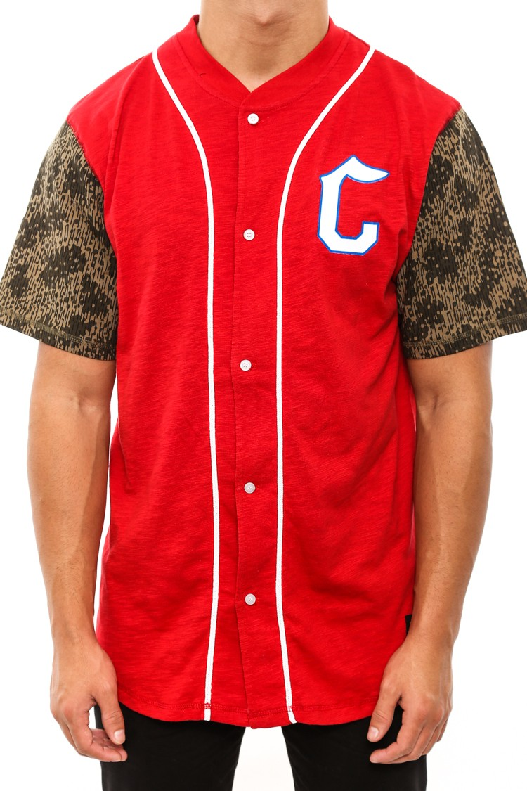 CROOKS & CASTLES Jungle Baseball Jersey Red | Culture Kings Online Store