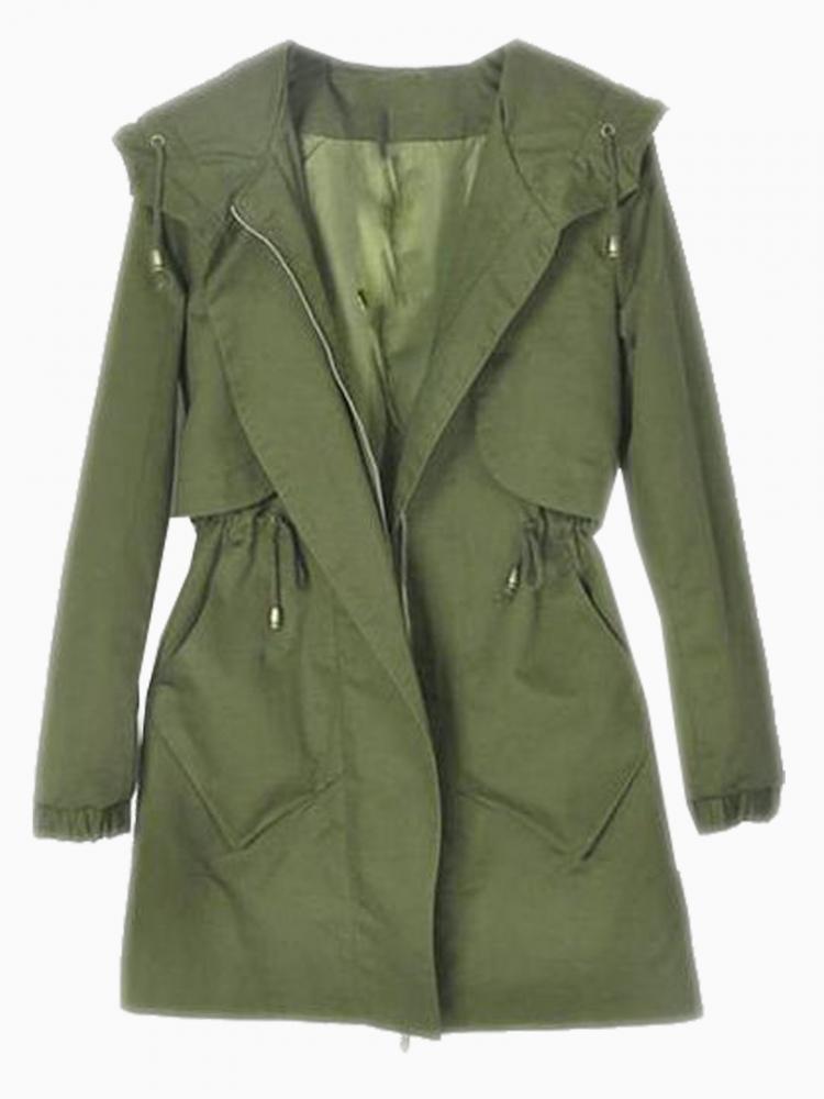 Green Military Parka Coat | Choies