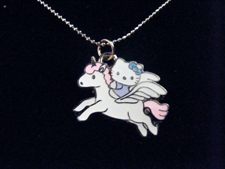 "Hello Kitty Unicorn Necklace Silver Chain 1"" Charm   eBay"