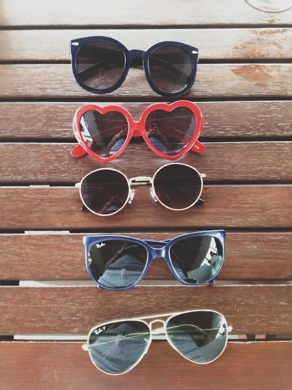 sunglasses blue black black sunglasses red heart sunglasses