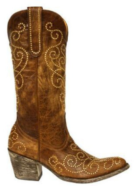 shoes curly hair cowboy boots chestnut embroidered