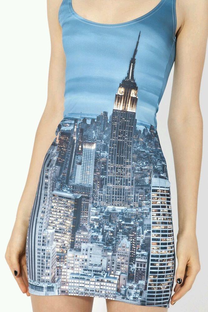 Black Milk Clothing Blackmilk NEW York Skyline Dress Medium Bnwot | eBay