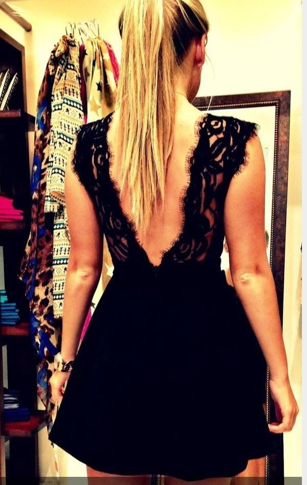 dress little black dress black lace dress