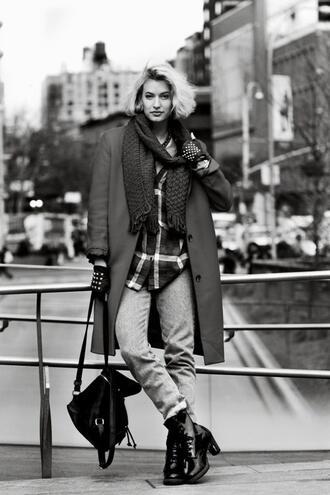 zanita shirt coat jeans shoes scarf