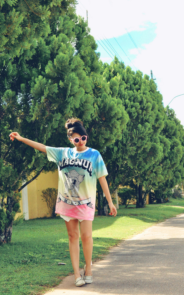 zebratrash t-shirt sunglasses shorts