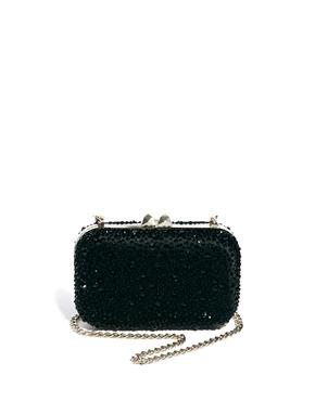 Karen Millen | Karen Millen Crystal Encrusted Box Clutch Bag at ASOS