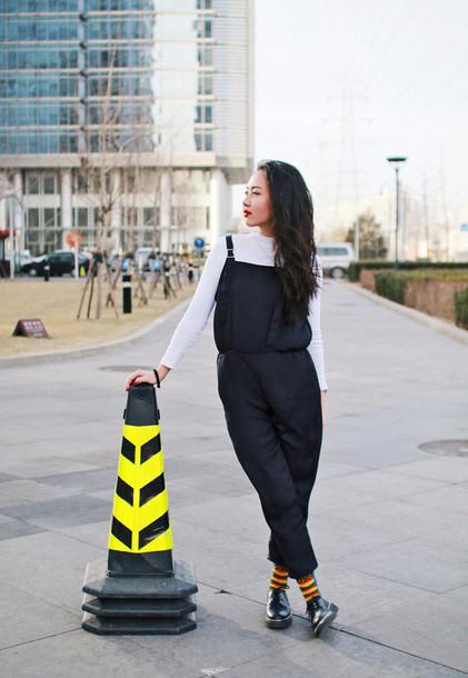 elle victoire blogger shoes overalls