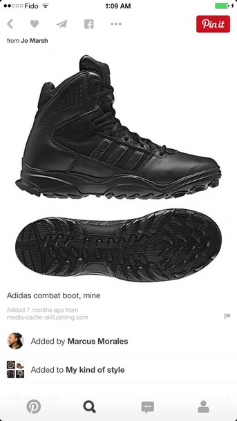 shoes addidas combat boots