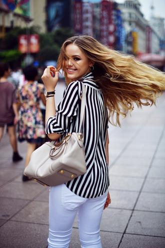 kayture blogger top jeans bag shoes jewels