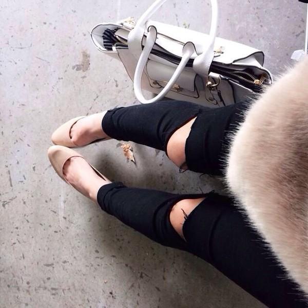 jeans denim black ripped