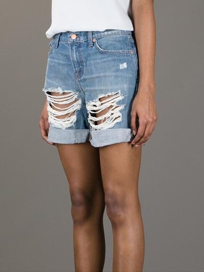J Brand Distressed Denim Shorts - Al Duca D'aosta - Farfetch.com