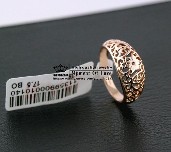 jewels 18k gold rings hollow rings jewelry rings flower rings retro rings women rings ring ladies ring women
