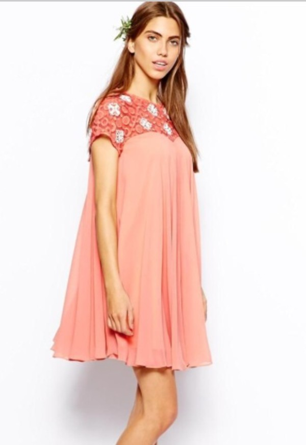 dress babydoll dress beading prom dress homecoming dress prom dress