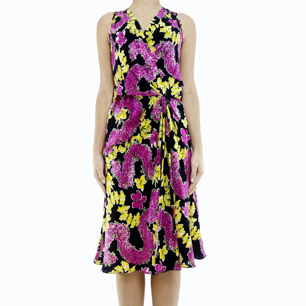 Tibi Floral Print Silk Dress / TheFashionMRKT