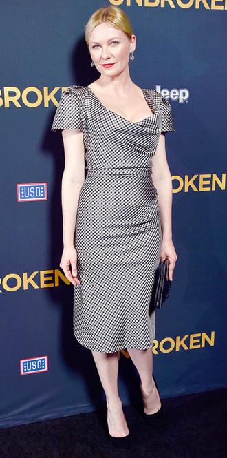 dress kirsten dunst pencil dress