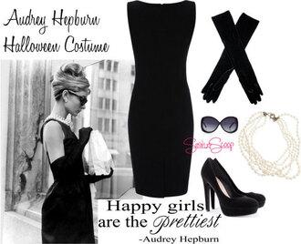 dress audrey hepburn black dress breakfast at tiffany's
