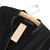 Black Long Sleeve Contrast PU Trims Chiffon Blouse - Sheinside.com