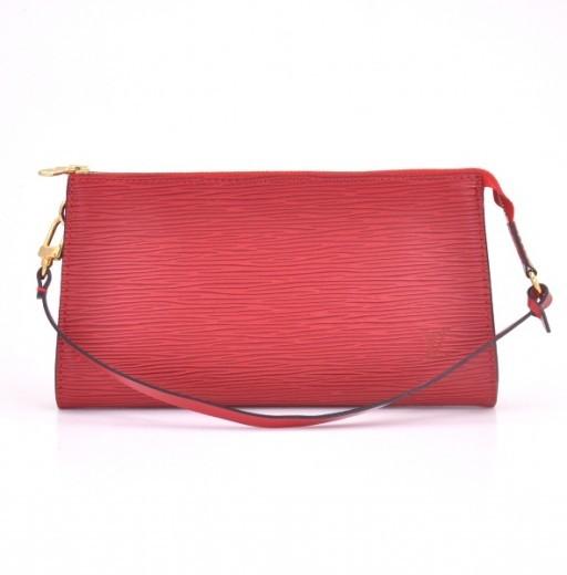 Louis Vuitton Red Epi Pochette Accessories Bag | Portero Luxury