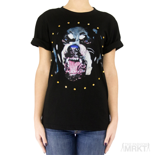 Givenchy Inspired Sapphire Rottweiler Graphic Print Fashion T-Shirt  / TheFashionMRKT