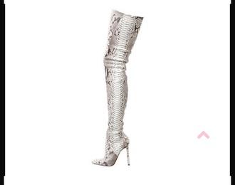 shoes python boots louboutin women
