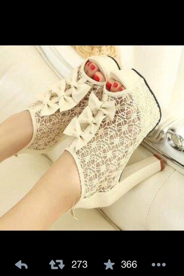 shoes gorgeous high heels cream high heels