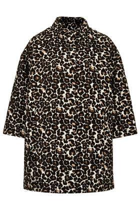 Animal Print Coat - Jackets & Coats  - Clothing  - Topshop
