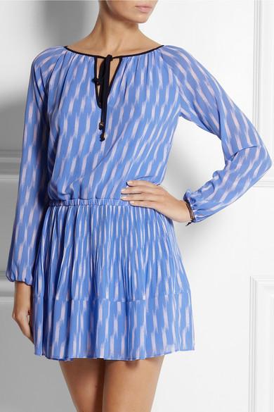 MICHAEL Michael Kors|Printed georgette mini dress|NET-A-PORTER.COM