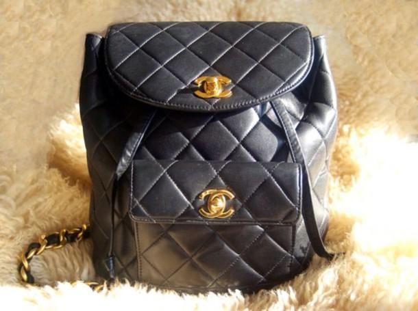 bag chanel bag black