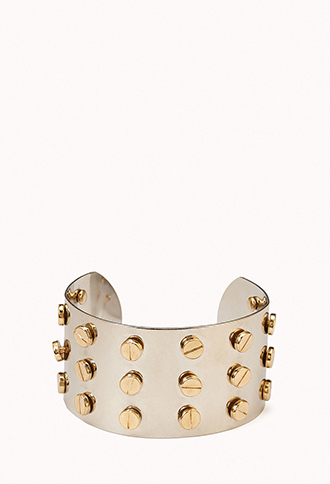 Screw Top Stud Cuff | FOREVER21 - 1073641605