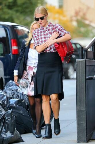 shirt gwyneth paltrow skirt fall outfits bag american retro