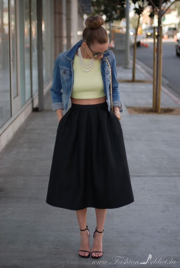 fashion addict t-shirt skirt shoes jacket bag jewels