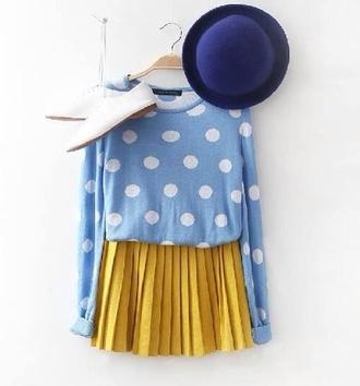 skirt mustard skirt floaty chiffon skirt sweater mustard