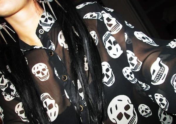 blouse skull blouse
