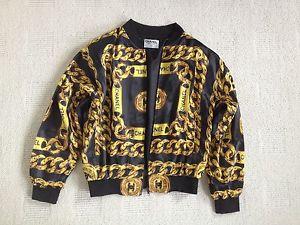 Vintage Chanel Chain Bomber Jacket Size M | eBay