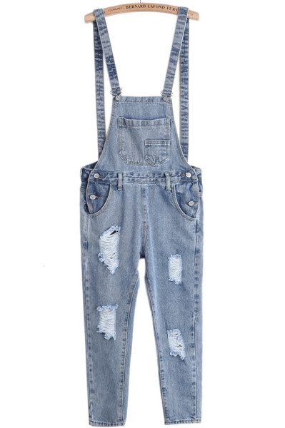 Longline Denime Dungarees   Outfit Made