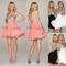 Stylish short strapless sweetheart sequin chiffon party ball cocktail mini dress | ebay